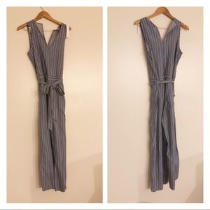 NWT Anthropologie Drew cropped jumpsuit chambray M
